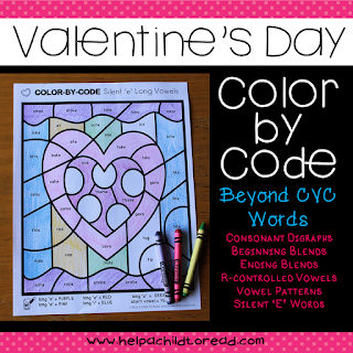 Valentine's reading worksheets