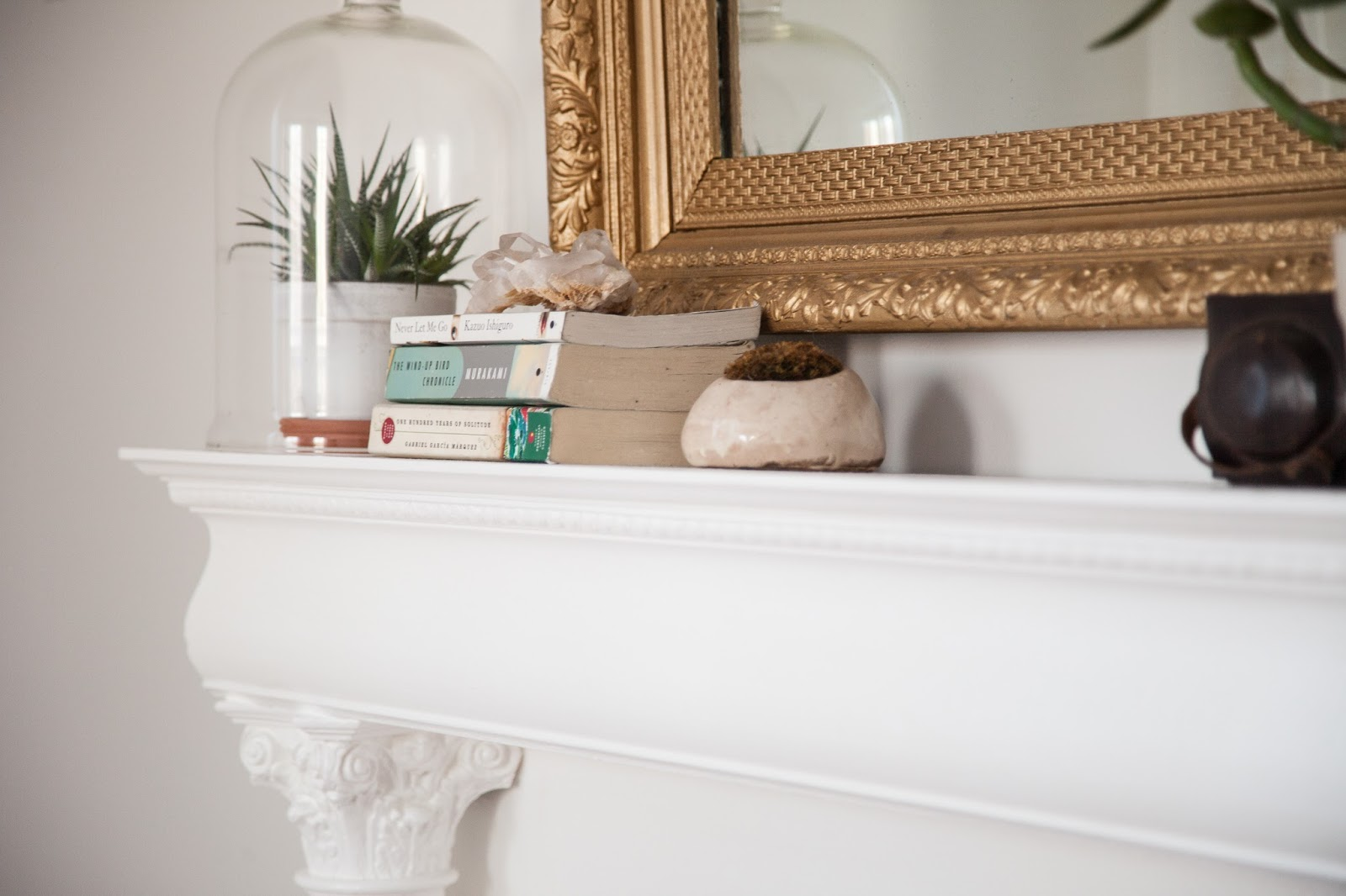 Restored Vintage Faux Mantel Shelf