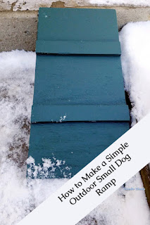 How to Build an Outdoor Dog Ramp, one of my personal favorites!