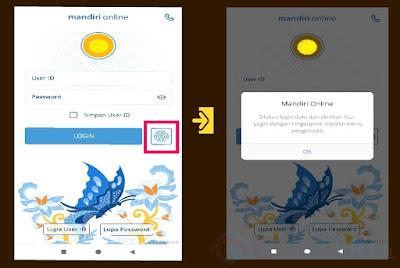Mau Aktifkan Sidik Jari ! Ini Cara Login Mandiri Online Dengan Sidik Jari ( Fingerprint )