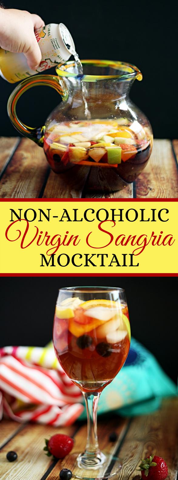 HOW TO MAKE A NON-ALCOHOLIC VIRGIN SANGRIA MOCKTAIL #drinks #favoritedrink