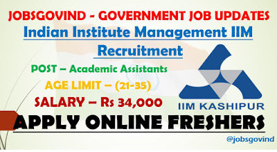 IIM Recruitment 2021
