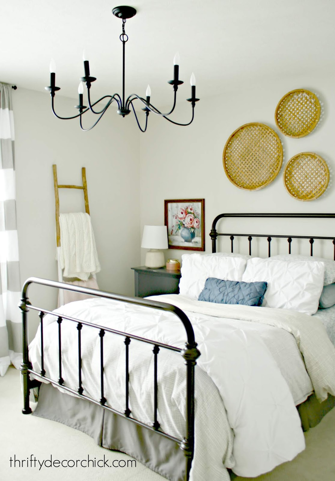 Bedroom with pretty farmhouse touches