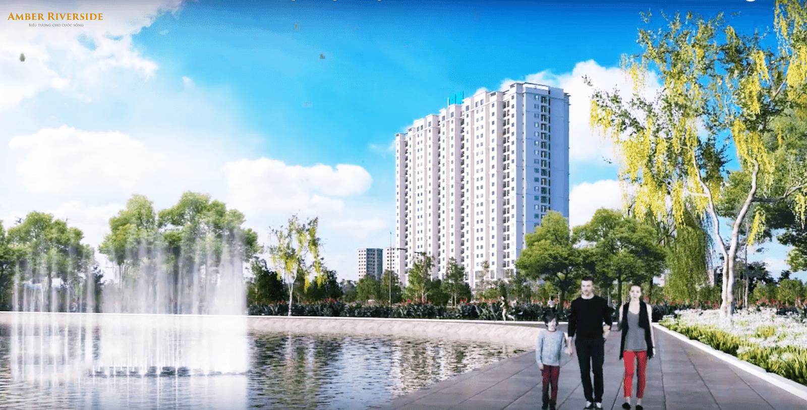 Không gian xung quanh toà căn hộ chung cư 622 Minh Khai