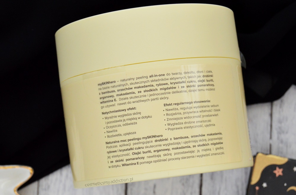 MIYA Cosmetics - naturalny peeling all-in-one