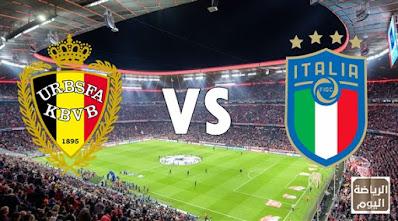 نتيجة المباراة بين منتخبي بلجيكا و إيطاليا ( يورو 2020 ) 2/7/2021
