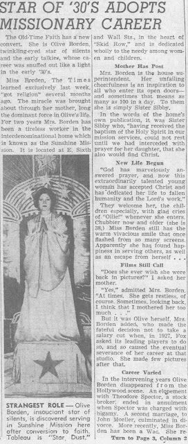 Olive Borden 1946 Article
