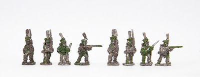 Infantry - Fusilier x 2 march attack / 2 x firing / Elite Co x 2 march attack / 2 x firing: