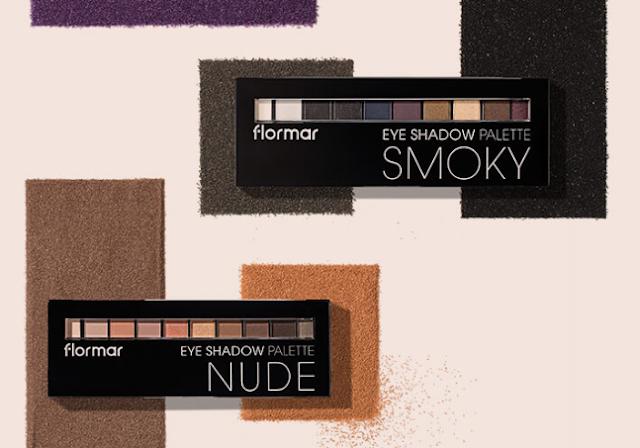 flormar eyeshadow palette nude smoky