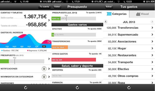 Controlar los ingresos y gastos bancarios con Fintonic