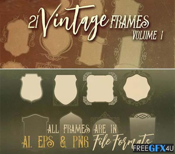 21 Vintage Ornamental Frames Vector Templates