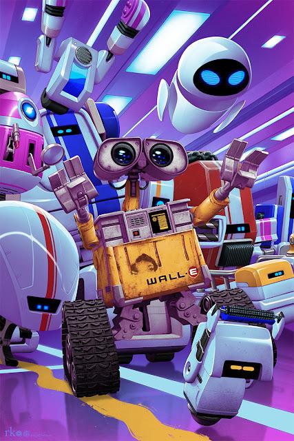 Wall-e Pixar Mondo Screenprint Poster by Rory Kurtz