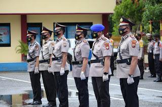 Kapolres Pangkep Pimpin upacara serah terima jabatan