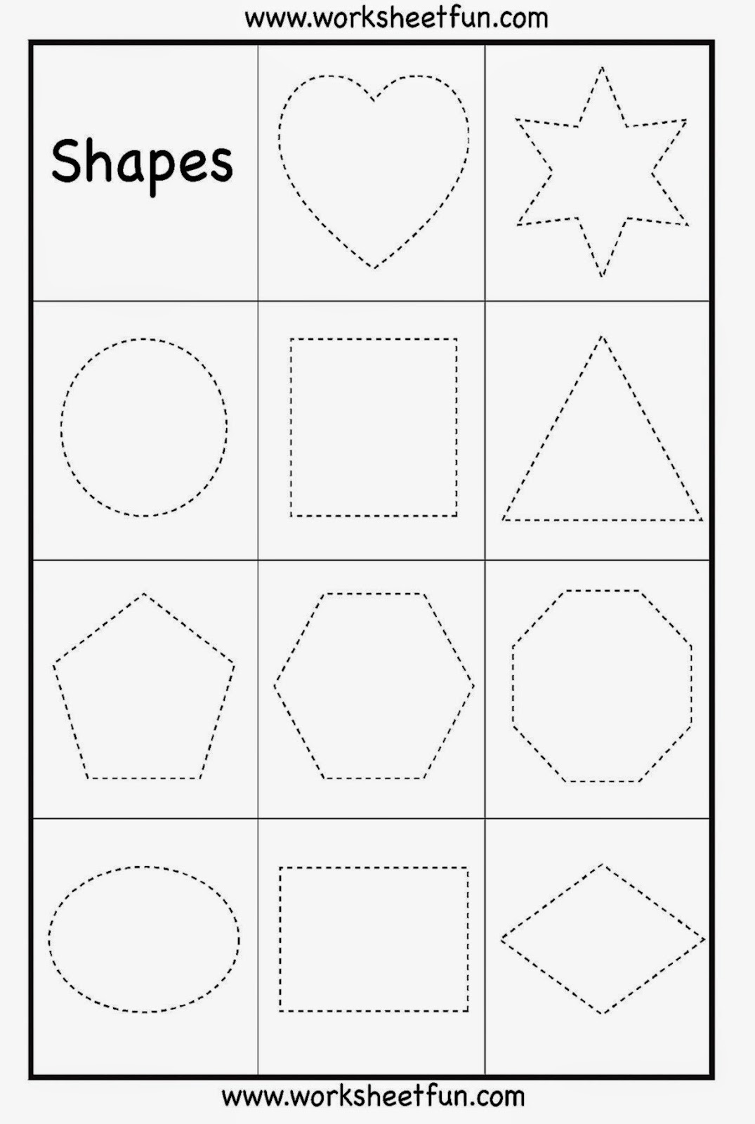 Free Printable English Worksheets for Preschool and Kindergarten