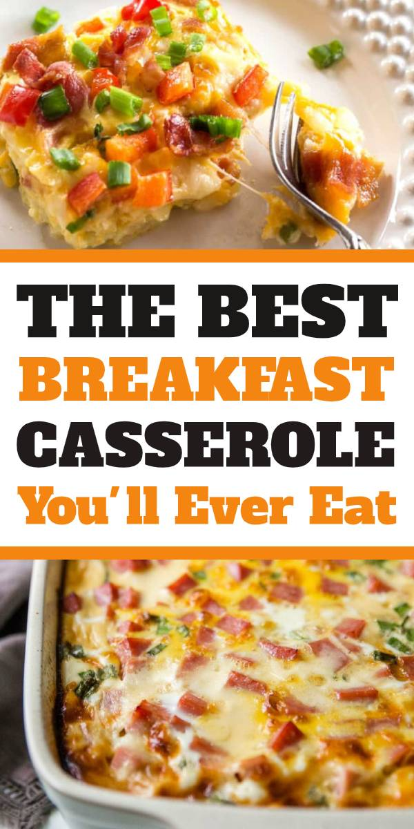 Easy Farmer's Casserole recipe is The Best Breakfast Casserole recipe. Just a great breakfast casserole, and it's super easy to make! The best breakfast casserole recipe : #farmers #breakfast #casserole #casserolerecipe #breakfastrecipe