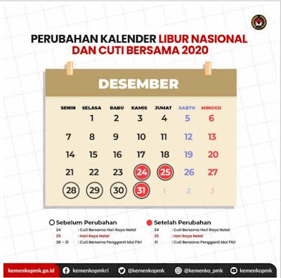 Pemerintah Tetapkan Libur & Cuti Bersama Akhir Tahun 2020 Dikurangi Tiga Hari https://bit.ly/36uWWWi