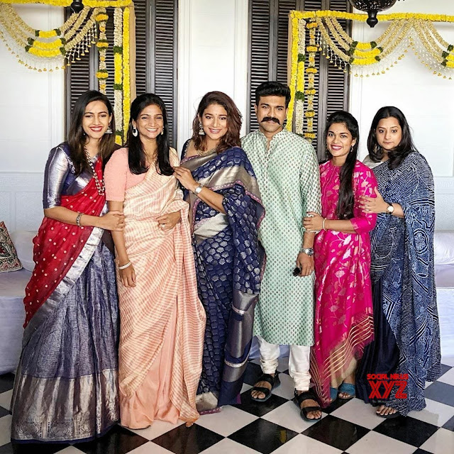 Chiranjeevi with His Daughters