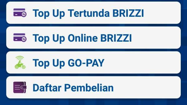 Tidak Ada Fitur Top Up Go-Pay di BRI Internet Banking