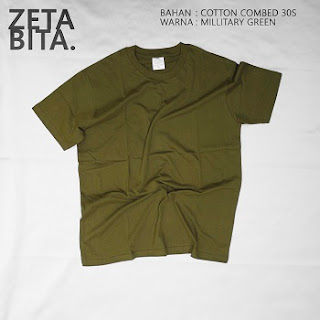 Kaos Polos Hijau Tentara - Zetabita