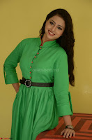 Geethanjali in Green Dress at Mixture Potlam Movie Pressmeet March 2017 027.JPG