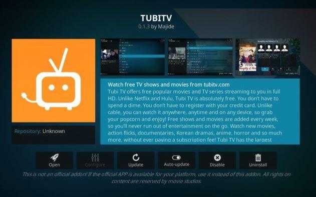 TubiTV - Addon Movie Kodi Terbaik