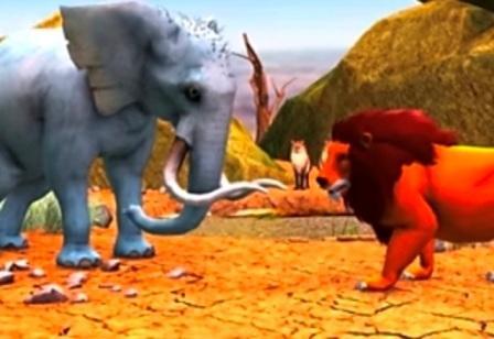 हाथी और शेर की कहानी