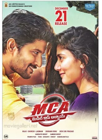 Poster Of MCA Middle Class Abbayi Full Movie in Hindi HD Free download Watch Online Telugu Movie 720P