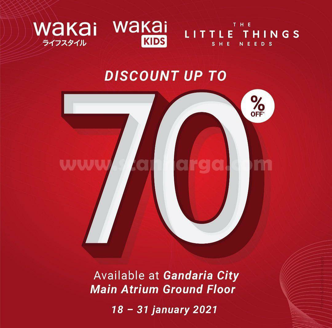 WAKAI Promo Branded Fashion Sale! Disc. Up To 70% Off