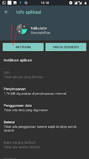 cara menghilangkan logo aplikasi di menu