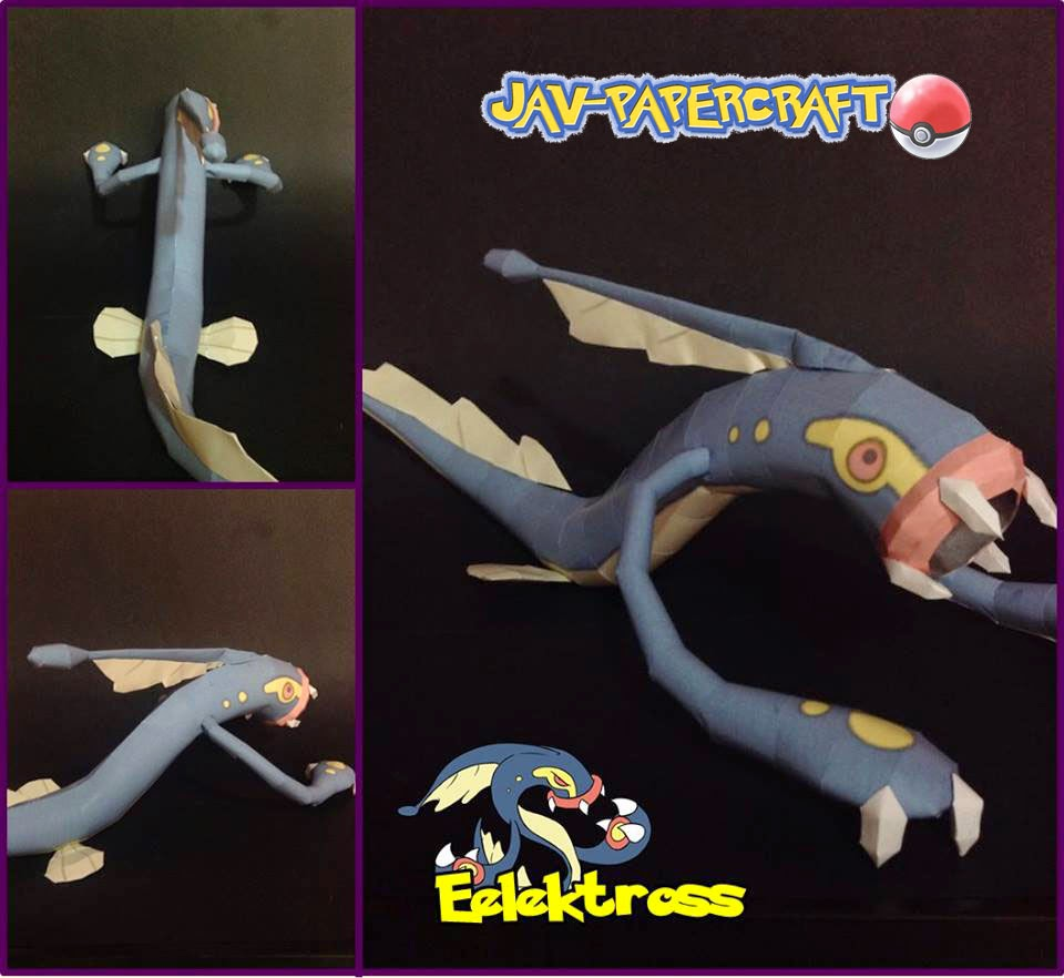 Pokemon Eelektross Papercraft