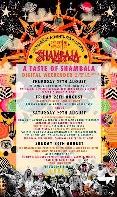 'Taste of Shambala' digital weekender