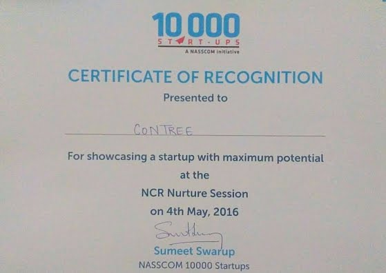 Contree - Most Promising App - NCR Nuture Session