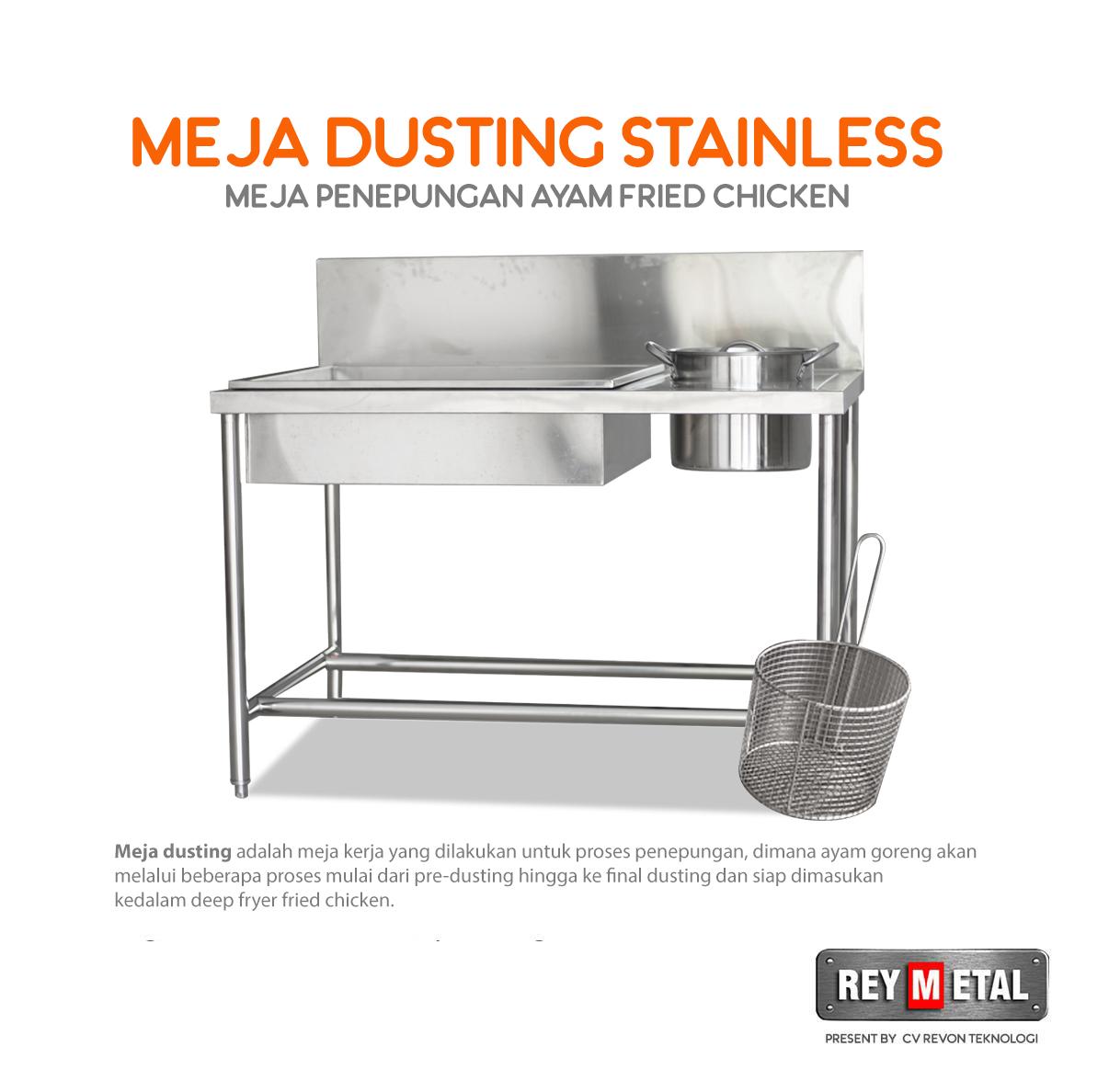 Jual Meja Dusting Stainless Steel di Jogja
