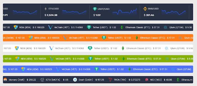 Premium Cryptocurrency WordPress Plugins | Massive Cryptocurrency widgets 9