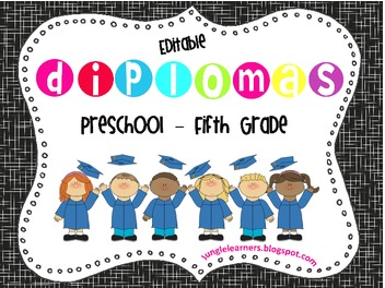 https://www.teacherspayteachers.com/Product/End-of-Year-Editable-Diplomas-716834