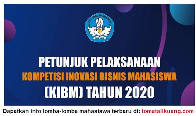 pedoman petunjuk pelaksanaan kompetisi inovasi bisnis mahasiswa kibm tahun 2020 pdf tomatalikuang.com