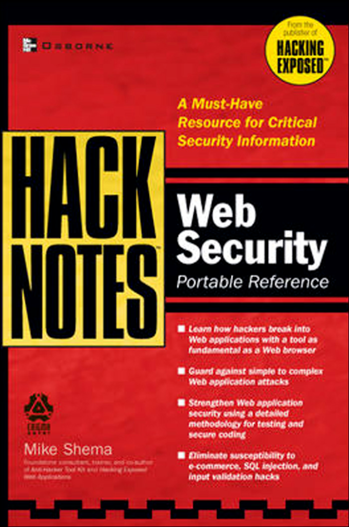 Web Security: Portable.Reference, McGraw Hill