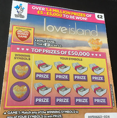 £2 Love Island Scratchcard