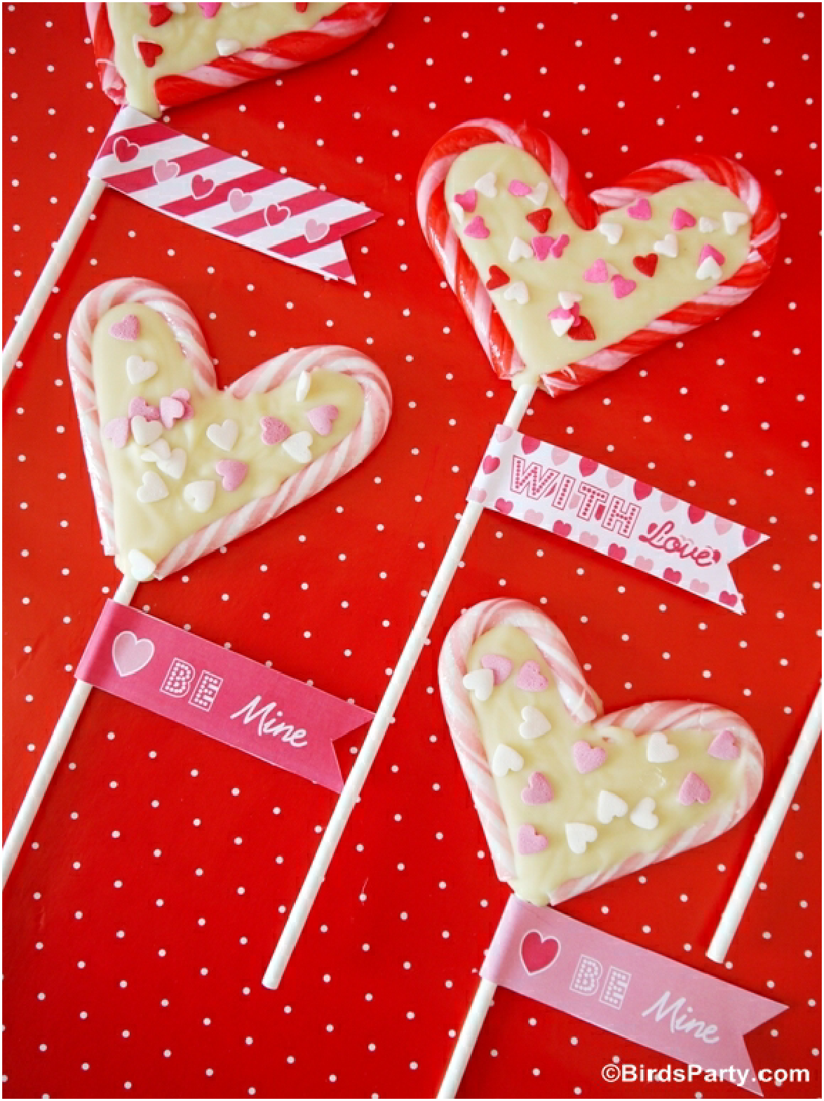 Valentine S Heart Lollipops Using Candy Canes