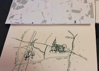 Wedding invitation map sketch draft