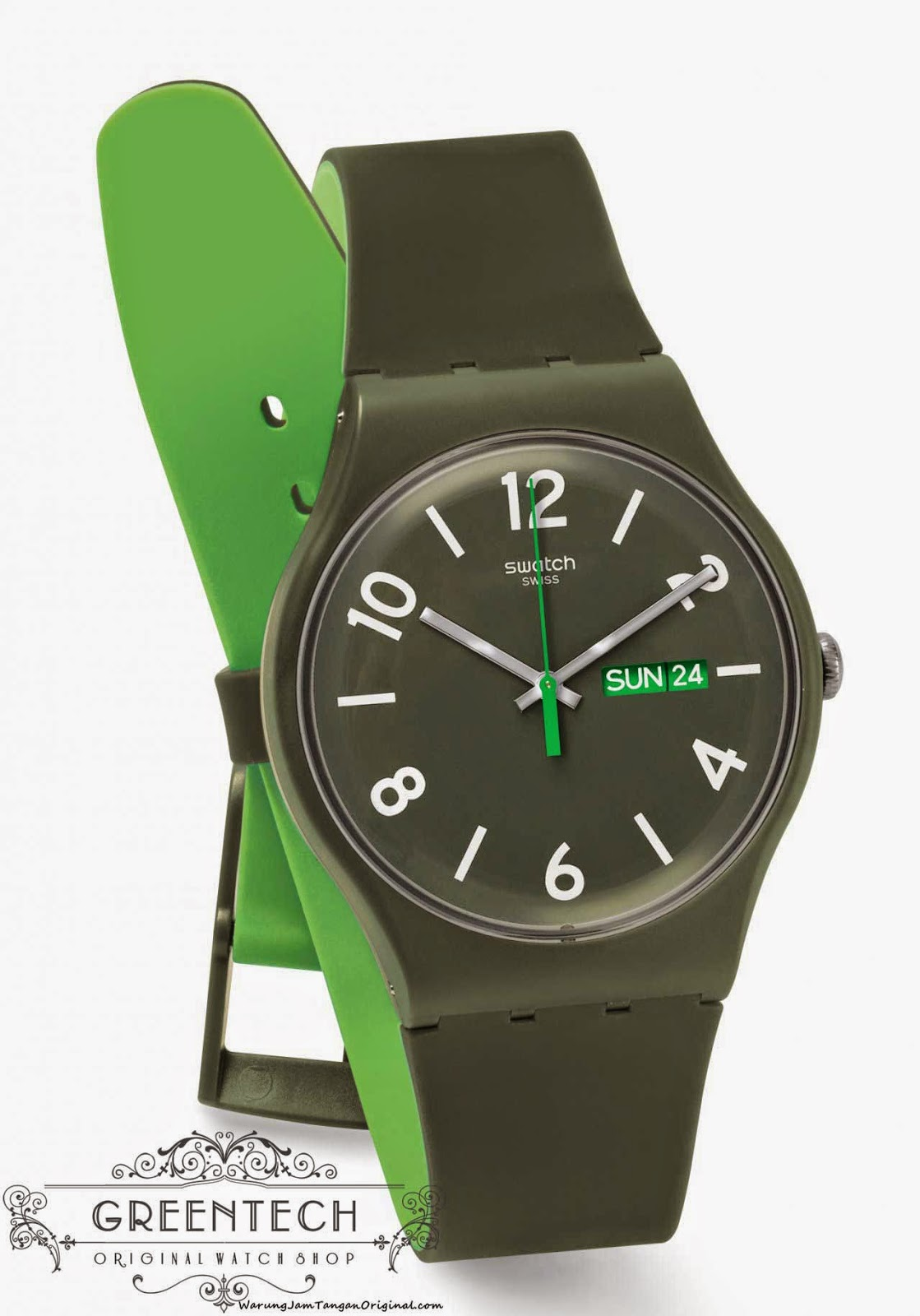 Swatch BACKUP GREEN SUOG706