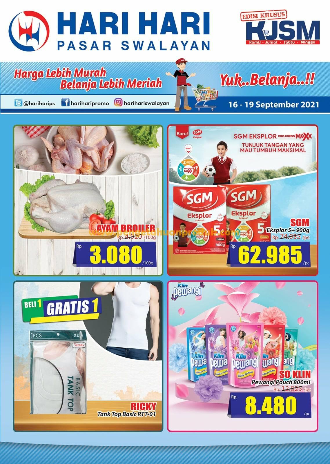 Katalog Promo JSM Hari Hari Swalayan Weekend Periode 16-19 September 2021