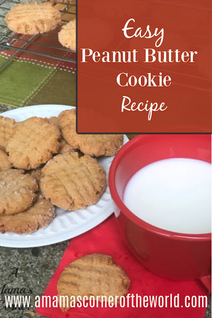 pinnable image for a peanut butter cookie recipe post