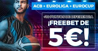 Paston 5 euros freebet baloncesto hasta 7 noviembre 2020