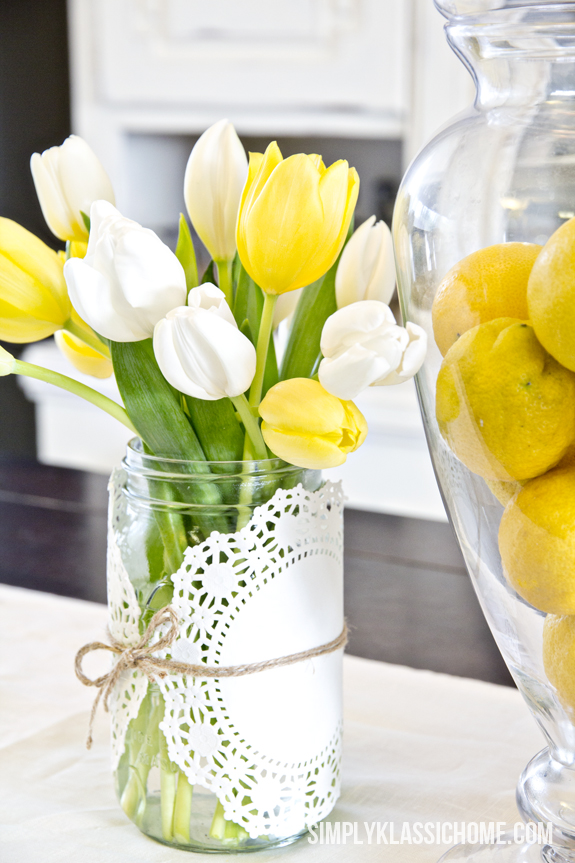 Cheap Spring Decorations: How To Create An Easy Spring Centerpiece {On The Cheap