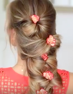 Magnificent A Simple Braid For Girls With Long Hair The Bow Braid Hairstyle Short Hairstyles For Black Women Fulllsitofus