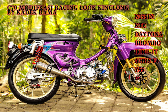 Honda C70 Modifikasi Racing Look By Kadek Rama Payangan _ Ubud