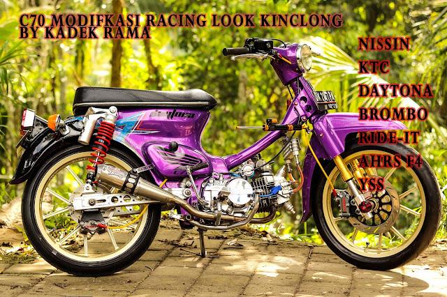 Honda C70 Modifikasi Racing Look By Kadek Rama Payangan _ Ubud