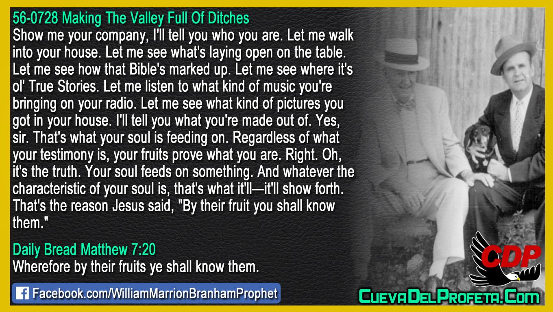 Your fruits prove what you are - William Marrion Branham - William Branham