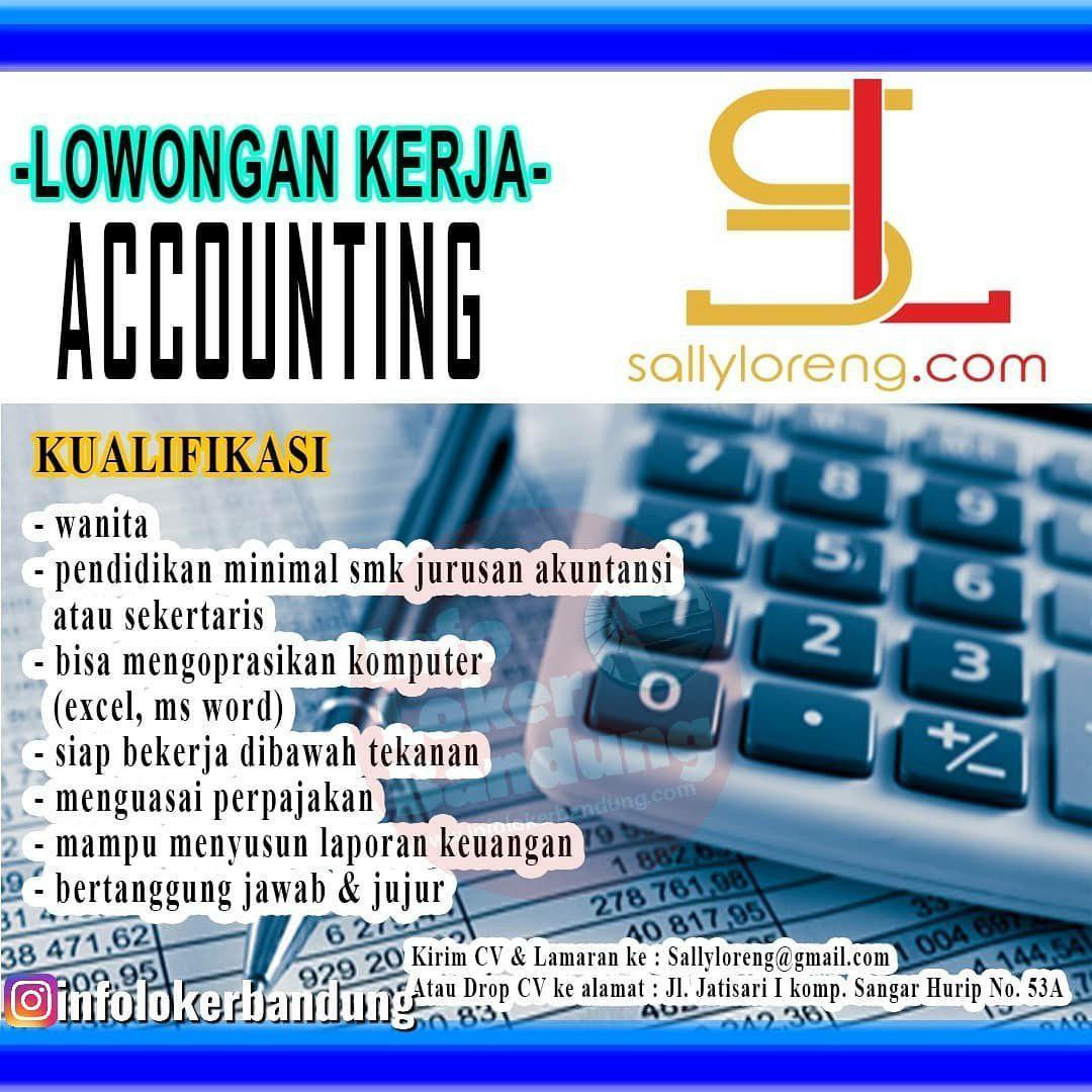 Lowongan Kerja Accounting Sally Loreng Bandung Desember 2019